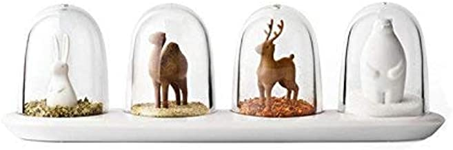 4pcs Kitchen Supplies Four Animal Spice Jar Animals Seasoning Bottle Salt Sugar Pepper Shaker Cooking Tools for Kitchen St...