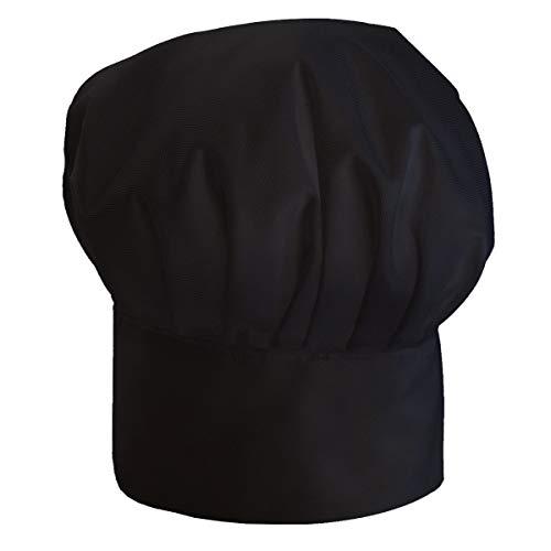 Gorro Cocinero para niños de niño Bebé de Cocina Ajustable con Velcro Negro Gorro de Chef [099]