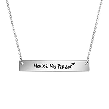 Awegift You re My Person Necklace Best Friend Sisters Gifts Women Jewelry