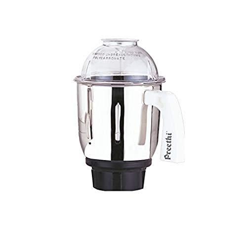 Preethi MGA515 Medium Mixer Jar für Eco Twin, Eco Plus, Nitro und Blue Leaf, 1 Liter, silber