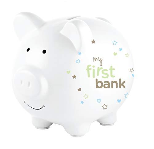 Corexa Mijn Eerste Bank Piggy Bank - Beige met sterren