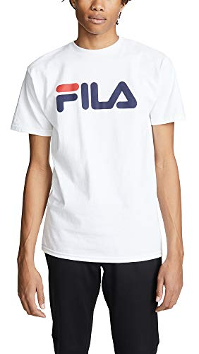 Fila Men's Printed Tee, White, Medium