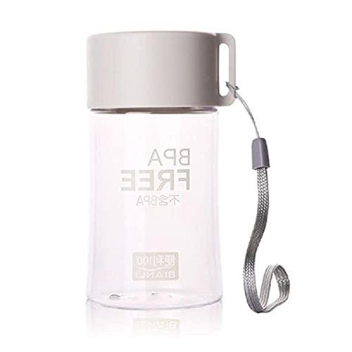 Pequeña taza de conveniencia, botella de agua de plástico de 150 ml, pequeña botella de agua para niños, portátil, a prueba de fugas, pequeña botella de agua