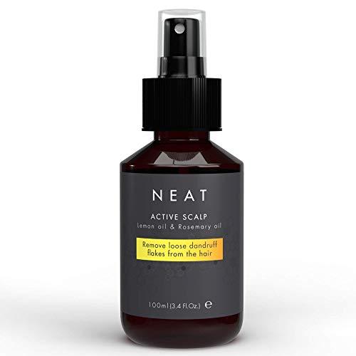 Neat Organic Scalp Oil for Dandruff & Psoriasis - Scalp Moisturizer - Natural Flaky Scalp Treatment with Rosemary Oil & Lemon Oil - Alternative to Anti Dandruff Shampoo & Psoriasis Shampoo, 3.38 Fl Oz