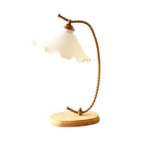 Arte Moderna Lampada da tavolo retrò in stile europeo, lampade da comodino in stile campagna vintage per soggiorno tavolini da letto da camera da letto lettura studio, lampadina E27 Arredamento per in