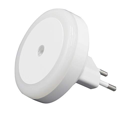 Velamp Drop Punto Interruptor crepuscular. 2 LED, luz Suave, Ideal para el Dormitorio, un Pasillo Integrata, 0.5 W, Blanco