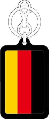 K-SK224 ドイツ GERMANY 100円国旗ステッカー キーホルダー (BLACK)