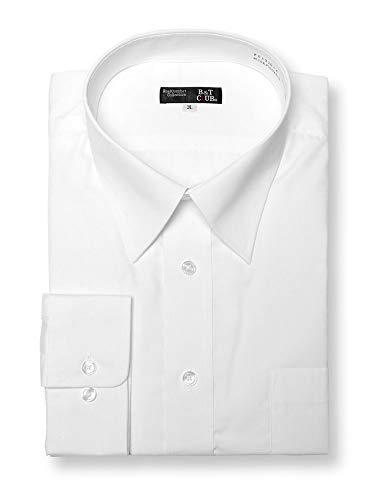 (サカゼン) B&T CLUB 大きいサイズ ワイシャツ 長袖 メンズ 形態安定 防汚加工 レギュラーカラー ホワイト / 3L