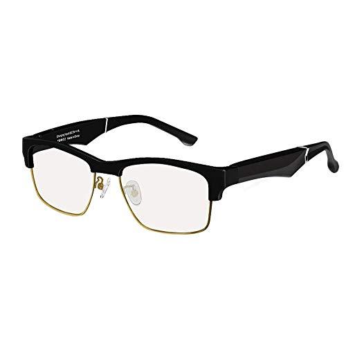 SMSOM Gafas Inteligentes Gafas de Sol Bluetooth Inalámbrico Bluetooth Open Ear Música y Llamadas de Manos Libres, para Hombres y Mujeres Lentes Anti-Blue Gafas de Sol Inteligentes