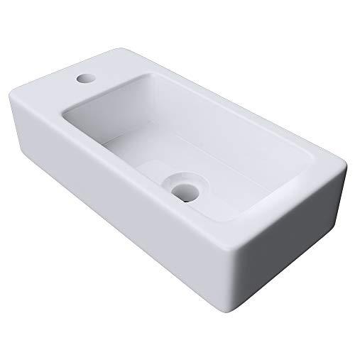 Mai&Mai: Hängewaschbecken aus Keramik,weiß mit Nano-Beschichtung Brüssel3053R