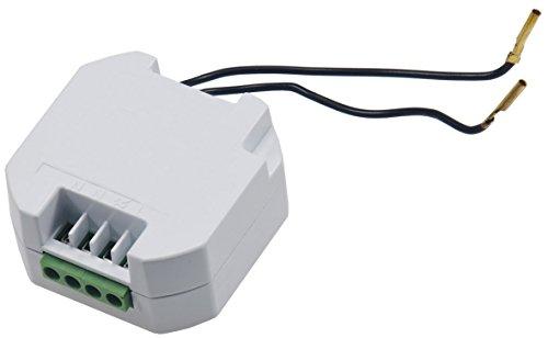 Funk-Empfänger für Wand Lichtschalter Unterputz Einbau, LED geeignet, max. 2000Watt, 49x49x25mm, Ergänzung für einen Lichtschalter EIN AUS Schalter