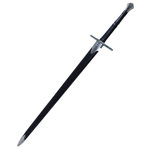 """Cold Steel Hand-And-A-Half 33-1/2"""" Sword with Leather/Wood Scabbard"""