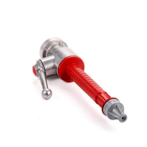 SagaSave Aluminum Alloy & Plastic 25mm Fire Hose Nozzle with C Coupling for Fireman Fire Fighting Accessories