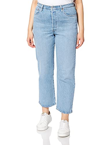 Levi's Womens Ribcage Straight Ankle Jeans, Tango Gossip, 31W / 27L