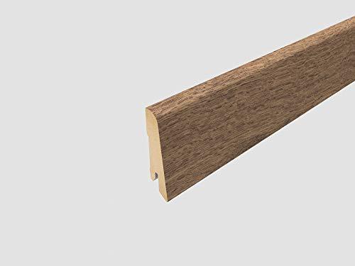 EGGER Home Sockelleiste braun L487 Fußleiste | Bodenleiste 2,4m passt zu EHL075 Perganti Nussbaum braun
