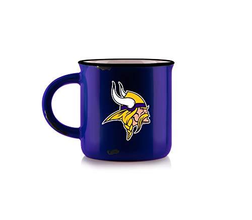 Duck House NFL Minnesota Vikings - Taza unisex de porcelana de hueso, diseño vintage, color morado, 12 onzas