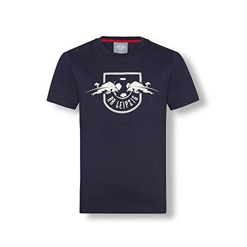 RB Leipzig Essential Mono T-Shirt, Blau Youth Größe 140 T-Shirt, RasenBallsport Leipzig Sponsored by Red Bull Original Bekleidung & Merchandise