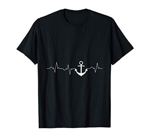 Ancla latido marinero marinero regalo Camiseta