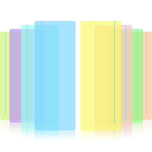 Zonon Geführte Lesen Markieren Streifen Farbige Overlay Lese Lineale Tracking Können mit Visuellen Stress Reduzieren (8 Pieces)