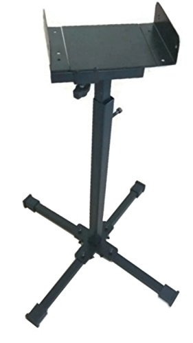Smart Shelter Universal Size Adjustable Satellite Speaker Floor Stand With Adjustable Height- (Pack of 3 Stands)