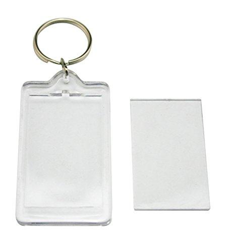 100klar blanko Foto Bild Bilderrahmen Rahmen Schlüsselanhänger Schnalle Ring (Rechteck)