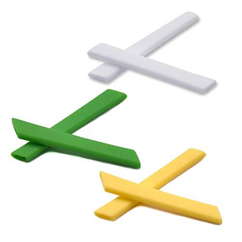 SOODASE Weiß/Grün/Gelb Ersatz Silikon Rahmenbein Gummi-Kit Für Oakley Jawbone Vented Sonnenbrille