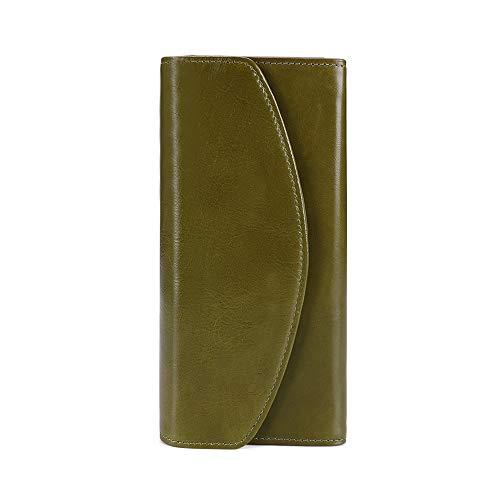 TYRBAGS RFID-blokkeerportemonnees voor dames, lederen portemonnees met meervoudige kaartportemonnee, echt leer, grote capaciteit, damestas met meerdere kleuren