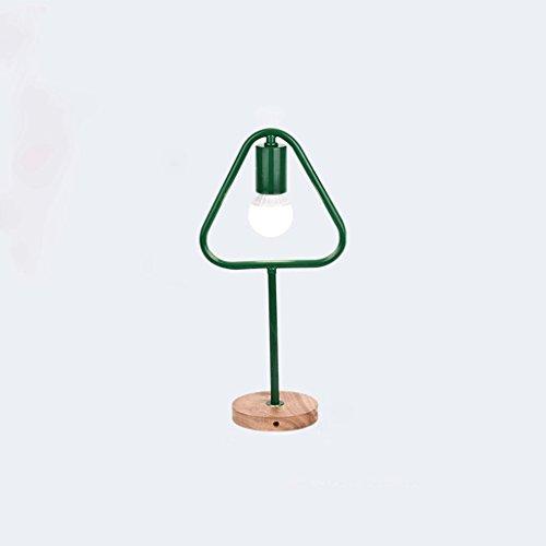 Lampe de bureau géométrique créative lampe de table en fer forgé en bois massif (Couleur : #3)