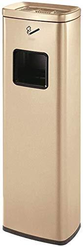 G-アウトドア ゴミ箱 ホテルKTVエレベーター用ゴミ箱が灰皿に垂直を二乗することができ、別々のインナーバケット、 スタンド 灰皿 (Color : Gold)