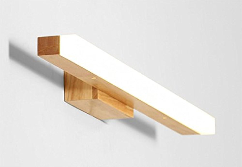 LED-Massivholz-Wand-Lampen-Toiletten-Spiegel-vordere Lampen-wasserdichte Wand-Lampe (Farbe   Wei-10w60cm)