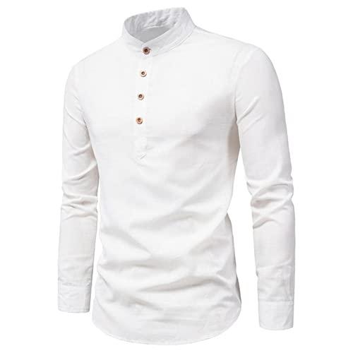 Camisas de Hombre de otoño Camisa de Manga Larga del Ajuste Delgado Masculino