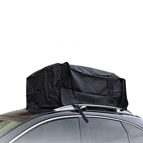 Cofre Coche 80x80x40cm Car Carga a prueba de agua Bolsa de techo de coches Bolsa de carga de carro de la azotea suave Carrier de equipaje en la azotea con correas Cofre Techo (Color : BLACK)