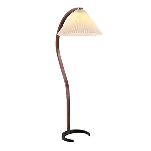 Lámpara de Pie Lámpara de pie Polo curvado Diseño simple, lámpara de pie moderna con la lámpara de polo alto de sombra for la oficina de la sala de estar lámpara de lectura (Color : Beige)