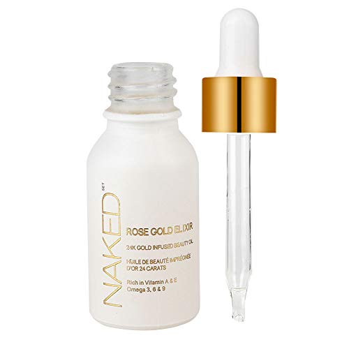 Suero facial de lámina de oro de 24 quilates, extracto de aceite de semilla de rosa mosqueta, hidratante para la piel de la cara + solución de reparación nutritiva antiarrugas, 15 ml