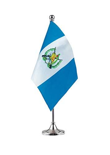 GentleGirl.USA Guatemala Flag Guatemalan Flag Table Flag,Desk Flag,Office Flag,International World Country Flags Banners,Festival Events Celebration,Office Decoration,Desk,Home Decoration
