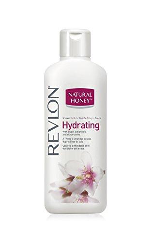 Revlon Natural Honey Shower Gel / Duschgel Shower Gel / Duschgel Hydrating (Feuchtigkeit) mit Mandelöl und Seidenproteine - 650 ml