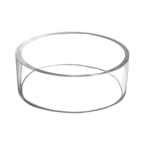 "3"" Basketball Football Volleyball Softball Soccer Ball Plastic Acrylic Round Pedestal Display Stand Ring Holder"