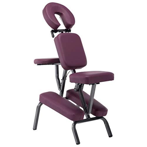 Festnight Fauteuil de Massage Pliable et Portable Chaise de Massage en Similicuir Bordeaux Rouge 122x81x48 cm
