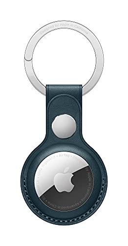 Apple Porte-clés en Cuir AirTag - Bleu Baltique
