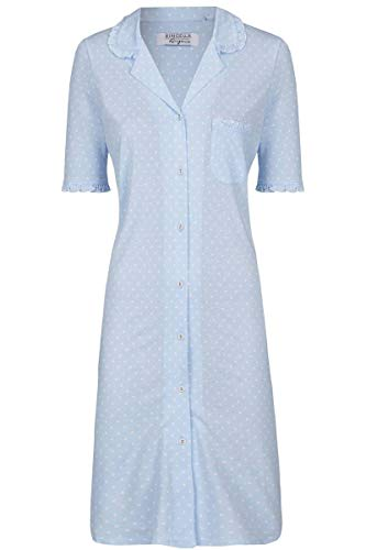 Ringella Lingerie Damen *Nachthemd durchgeknöpft bleu 40 0261014, bleu, 40