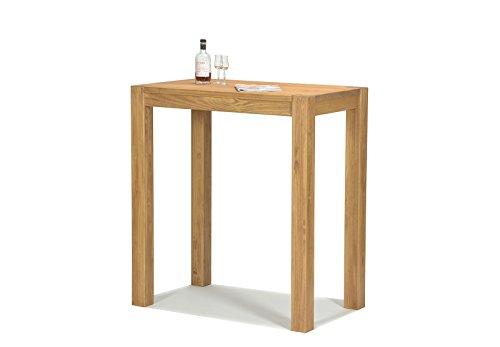 Naturholzmöbel Seidel Hochtisch 100x60cm Rio Bonito Farbton Honig hell Pinie Massivholz Tisch Bartisch Bistrotisch Stehtisch geölt und gewachst, Optional: passende Barhocker mit Metallstreben