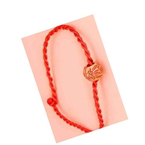 Pulsera china Feng Shui, cadena roja de 20,9 cm