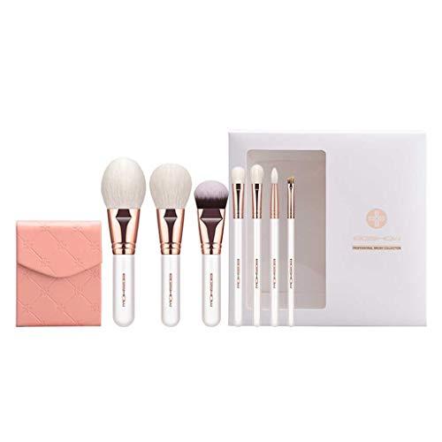 GCX- 7 pièces de Maquillage de Brosse for Les débutants étudiants Doux Set de beauté Brosse Professionnelle Ensemble Complet de Brosses Beau (Color : White)