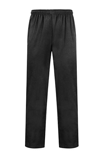 Proluxe Unisex Professional Kochhose - Moderne Passform, Schwarz, Gr.- 27W / 32L (Small)