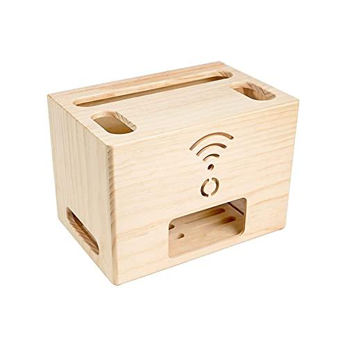 LJXX WiFi Caja de Almacenamiento de Router Set-Top Caja Estante, Router WiFi Inalámbrico Estanteria Flotante Pared, para Caja de Cables, Altavoces, TV Set-Top, 30cm