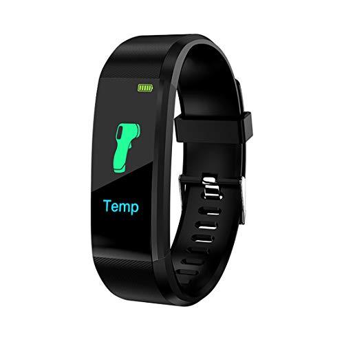 Pulsera de actividad física, reloj con monitor de frecuencia cardíaca, resistente al agua IP67, 115 Plus, pulsera inteligente con contador de calorías, para mujeres y hombres