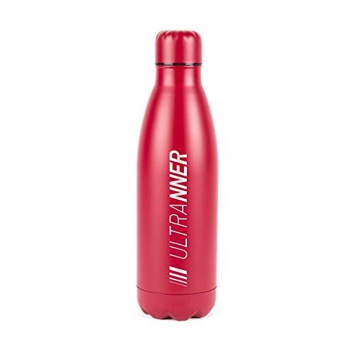 ULTRANNER - KONGUR | Borraccia in acciaio inox per ciclismo e altri sport da 1 litro – Bottiglia di acqua BPA Free – Bottiglia termica per uso durante attività sportive – Colore rosso