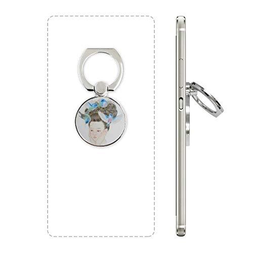 DIYthinker Pretty Girl Blue Bird Téléphone Portable Peinture Chinoise Support à Anneau Support Universel Smartphones Soutien Cadeau