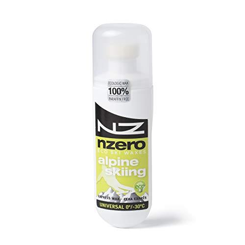 NZEROWAX - Sciolina Organica, applicatore Universale Alpine Skiing, 100 ml | Sciolina per Sci da Discesa 100% vegetale, sostenibile ed Organica