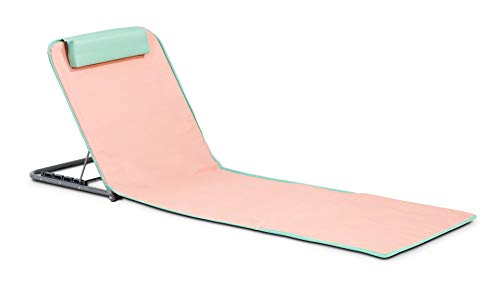 INNOV'AXE Clic-Clac Strandmatte, klappbarer Liegestuhl, Uni, 102449, Orange (Pamplemousse), 134 x 48 x 40